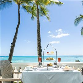 enjoy afternoon tea on the edge of Waikiki Beach