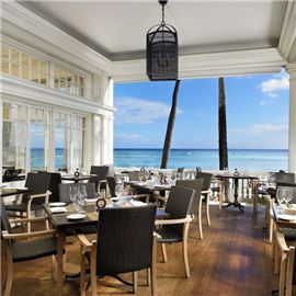 dine on the beach on the veranda at the beachhouse